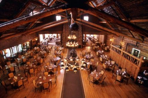 old faithful inn dining room (reservations needed for dinner