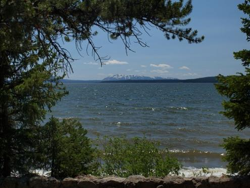 Yellowstone Lake near picnic area