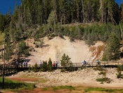 Mud Volcano Boardwalk - Yellowstone National Park