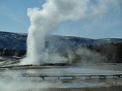 Upper Geyser Basin spring in Yellowstone National Park