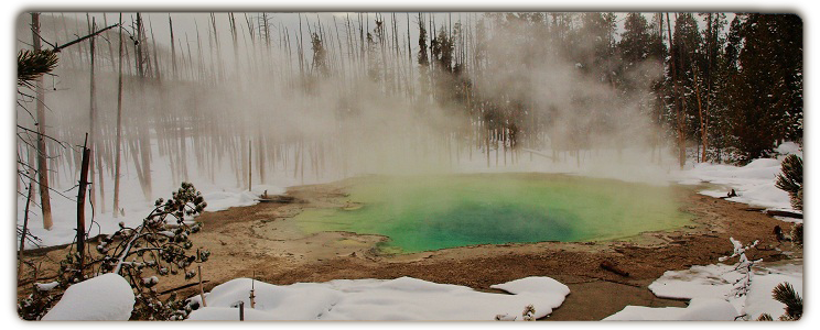 Winter in Yellowstone National Park - Norris Geyser Basin